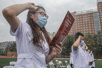 CHINA Beijing-PKUHSC-BEGINN ZEREMONIE (CN)