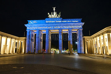 Brandenburger Tor EU Rathspraesidentschaft