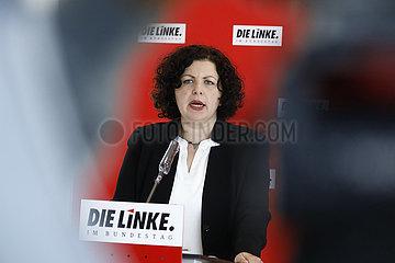 Pressekonferenz der Fraktion der Linken im Bundestag  Reichstagsgebaeude