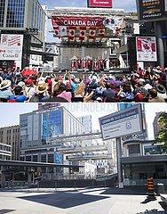 CANADA-TORONTO-COVID-19-CANADA DAY-IN-PERSON EVENTS-CANCELLATION