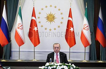 TURKEY-ANKARA-PRESIDENT-RUSSIA-IRAN-TRILATERAL VIDEO CONFERENCE-SYRIA