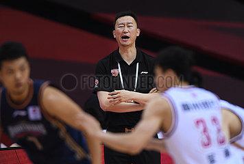 (SP) CHINA-QINGDAO-BASKETBALL-CBA-LIGA-ZHEJIANG VS NANJING (CN)