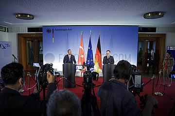 BM Maas empfaengt AM TUR Cavusoglu
