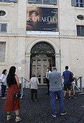 ITALIEN-ROM-COVID-19-RAPHAEL AUSSTELLUNG