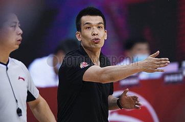 (SP) CHINA-QINGDAO-BASKETBALL-CBA-LIGA-BEIJING DUCKS VS BAYI ROCKETS (CN)