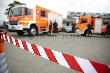 Absperrband der Feuerwehr