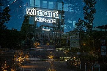 Wirecard Zentrale am Abend