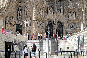 SPANIEN-BARCELONA-Basilika Sagrada Família-WIEDERERöFFNUNG