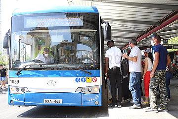 Zypern-NICOSIA-PUBLIC TRANSPORT-CHINA-BUSSE