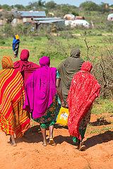 Gabradahidan  Somali Region  Aethiopien - Trinkwasserversorgung mit Wasserkanistern