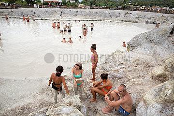 Vulcano  Sizilien  Italien - Schwefelbad  Liparischen Inseln