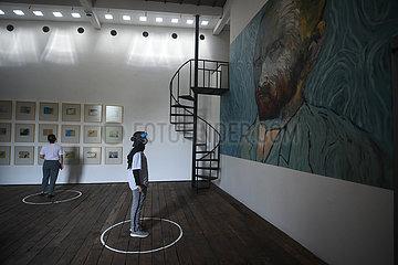 INDONESIEN-WEST JAVA-COVID-19-ART GALLERY