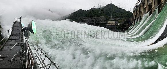 CHINA-ZHEJIANG-Xin'an RIVER reservoirWasserAustragungs (CN)