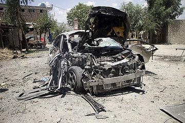 AFGHANISTAN-NANGARHAR-CAR BOMB