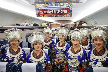 CHINA-GUIZHOU-LIUPANSHUI-ANSHUN-HIGH-SPEED RAILWAY-OPERATION (CN)