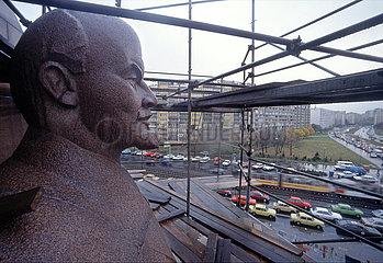 Abriss des Lenindenkmals  Berlin  1991