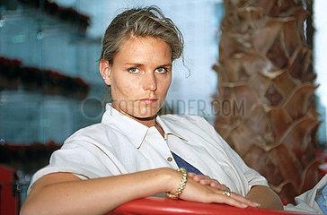 Katrin Krabbe  Leichtathletin  Portraet  1995