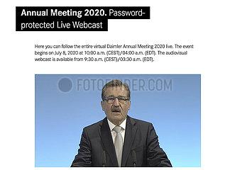 Manfred Bischoff  Daimler Virtual Annual Meeting