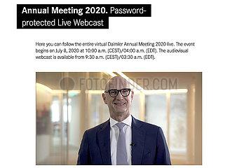 Tim Hoettges  Daimler Virtual Annual Meeting