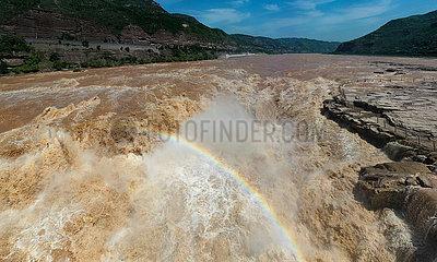 CHINA-Hukou-Wasserfall-REGENBOGEN (CN)