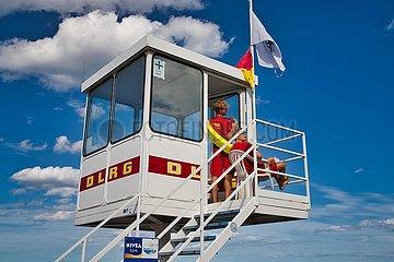 DLRG Beobachtungsstation am Ostseestrand