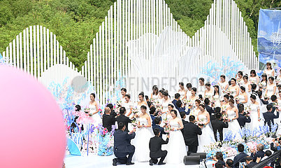 CHINA-JILIN-COVID-19 FIGHTERS-GROUP Hochzeit (CN)