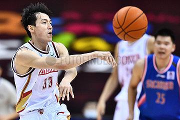 (SP)CHINA-QINGDAO-BASKETBALL-CBA LEAGUE-ZHEJIANG VS SICHUAN (CN)