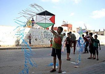 MIDEAST-GAZA-KITE