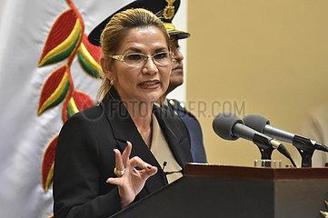BOLIVIA-LA PAZ-INTERIM PRESIDENT-COVID-19-POSITIVE