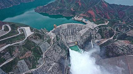 CHINA-QINGHAI-Lijiaxia WASSERKRAFTWERK-Entladung (CN)