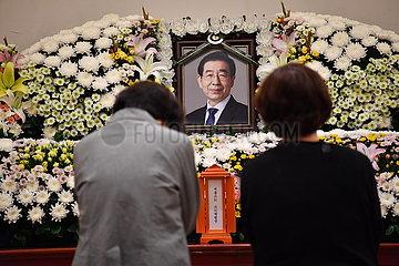 SOUTH KOREA-SEOUL-MAYOR-MOURNING