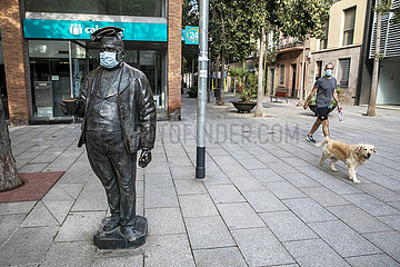 SPAIN-BARCELONA-COVID-19-FACE MASKS
