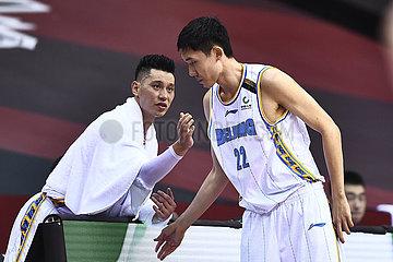 (SP)CHINA-QINGDAO-BASKETBALL-CBA LEAGUE-BEIJING VS JILIN (CN)
