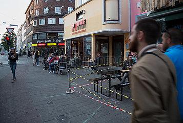Deutschland  Bremen - Leben auf der Strasse in Corona-Zeiten  Sielwallkreuzung im Viertel