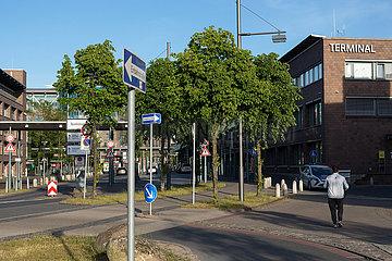 Deutschland  Bremen - Nichts los am Flughafen Bremen  Stillstand wegen Corona.