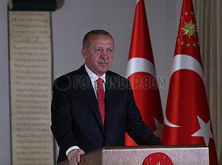 TURKEY-ANKARA-PRESIDENT-TELEVISED ADDRESS
