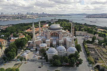 TURKEY-ISTANBUL-HAGIA SOPHIA-FIRST PRAYERS
