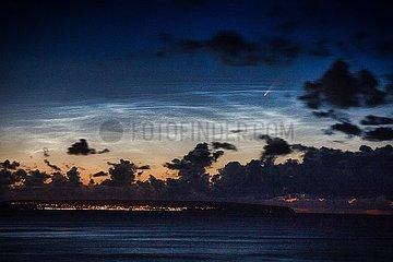 Komet Neowise C 2020/F3 ueber der Ostsee