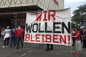 Protest gegen Karstadt Filialschliessung