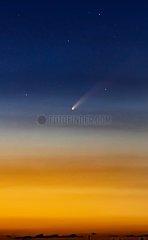 Komet Neowise über Siegburg   Comet Neowise over Siegburg
