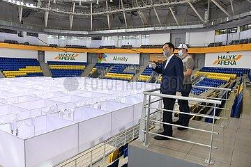 KAZAKHSTAN-ALMATY-COVID-19-TEMPORARY HOSPITAL