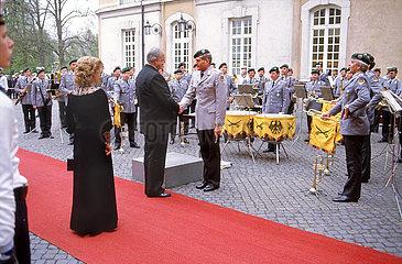 Ehepaar Kohl  Wirtschaftsgipfel  Bruehl  1985