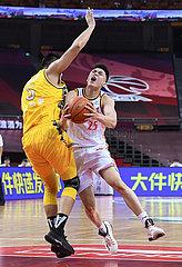 (SP)CHINA-QINGDAO-BASKETBALL-CBA LEAGUE-BAYI ROCKETS VS ZHEJIANG LIONS (CN)