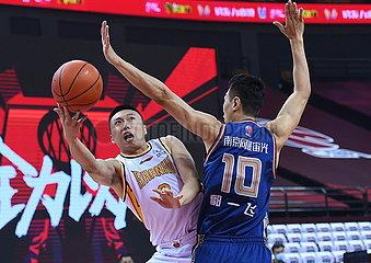 (SP) CHINA-QINGDAO-BASKETBALL-CBA-LIGA-SHANXI LOONGS VS NANJING AFFEN KING (CN)