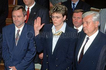 Vereidigung Kabinett Stoiber I  Bayerischer Landtag  1993