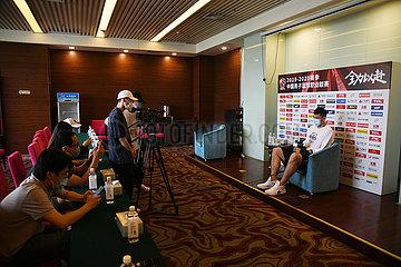 (SP) CHINA-QINGDAO-BASKETBALL-CBA-LIGA-MEDIA DAY (CN)