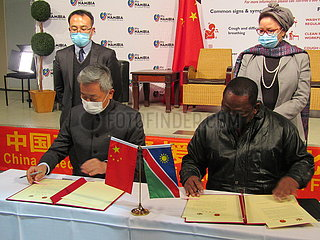 NAMIBIA-WINDHOEK-COVID-19-CHINA-PPE-SPENDEN