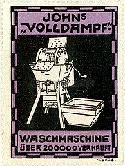 Werbung fuer mechanische Waschmaschine  1913