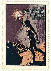 Wolfram Lampen AG  Augsburg  Werbemarke  1913