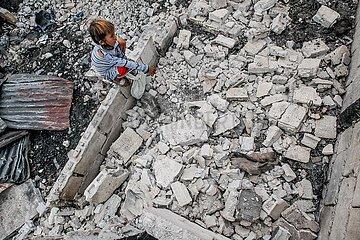 PHILIPPINEN-MANILA-Slum FIRE-AFTERMATH